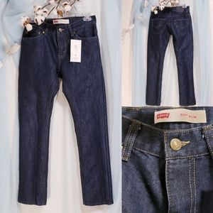 🆕Levi's 511 slim kids size 14 Reg Dark Wash💕